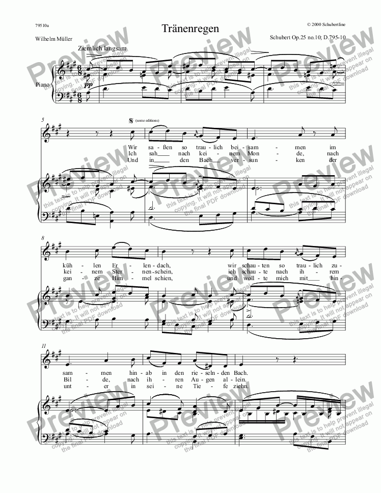 page one of 10 Tränenregen