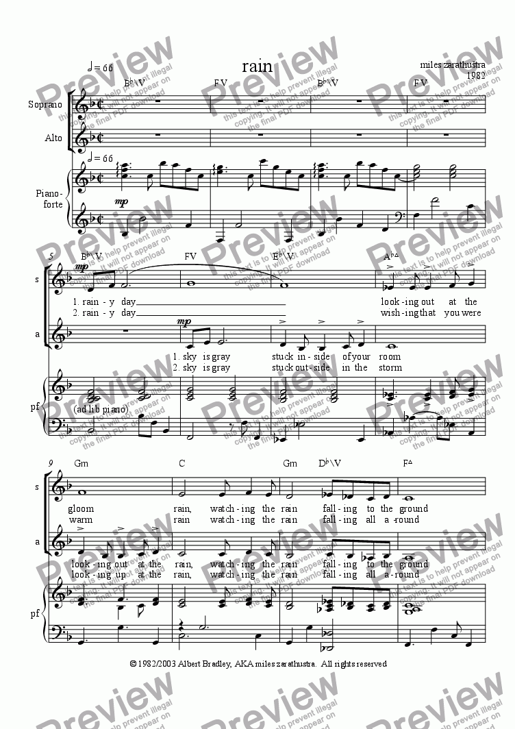 page one of rain