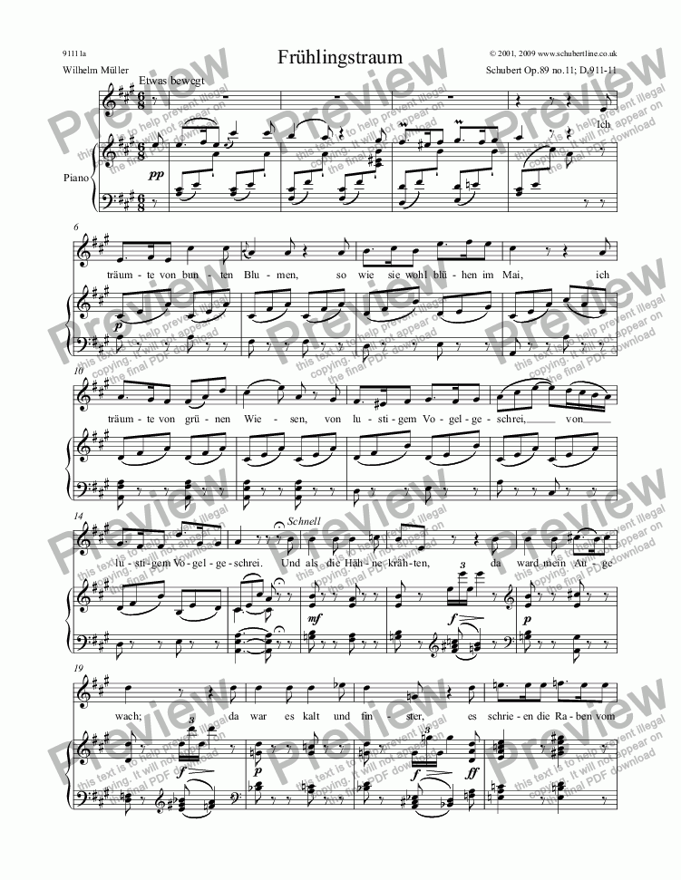page one of 11 Frühlingstraum