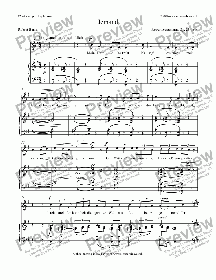 page one of Jemand Op. 25 no. 4