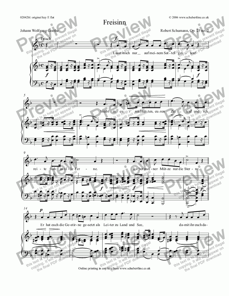 page one of Freisinn Op. 25 no. 2ASALTTEXT