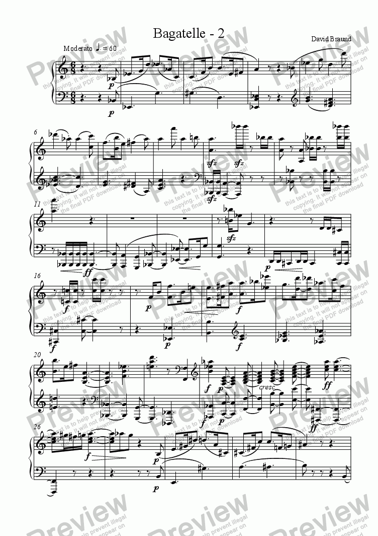 page one of Bagatelle - 2