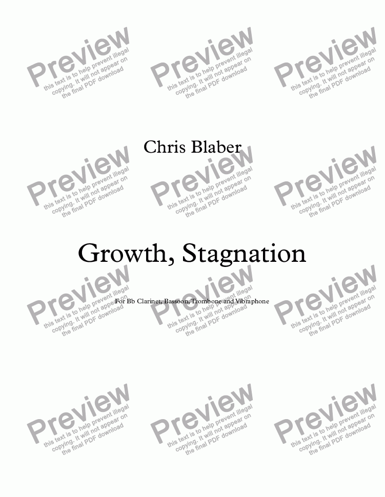 page one of Growth, StagnationASALTTEXT