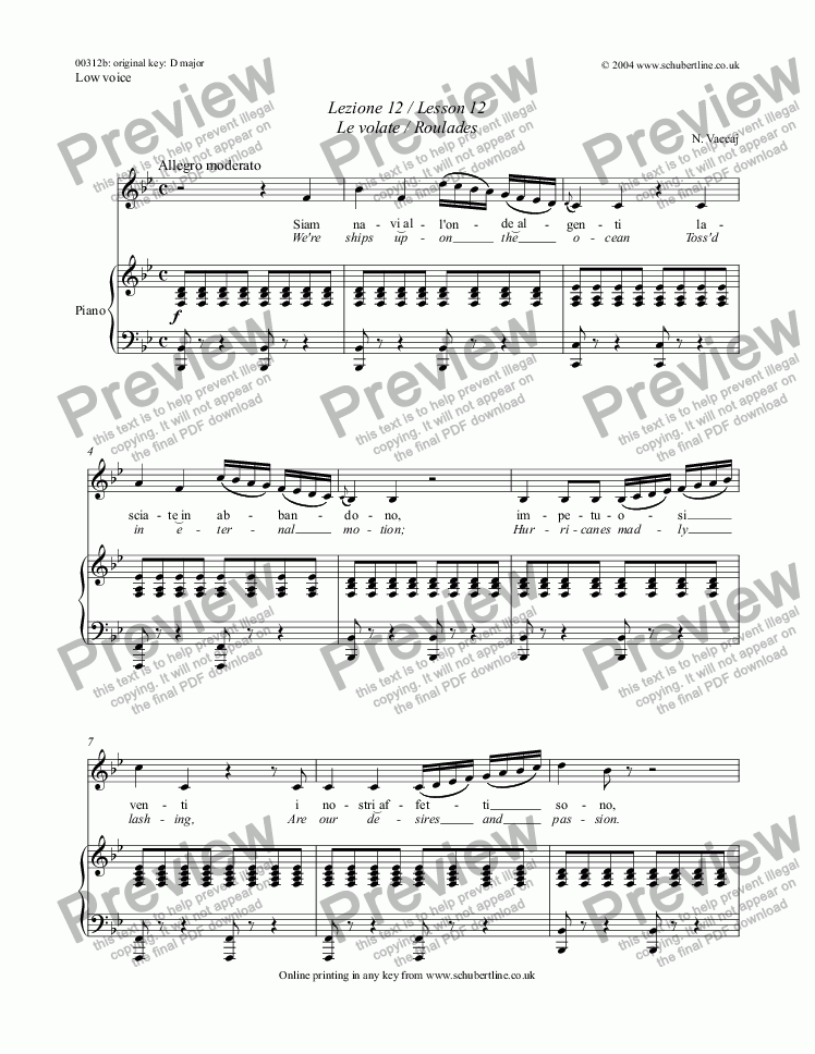page one of Lezione 12 / Lesson 12 Le volate / Roulades