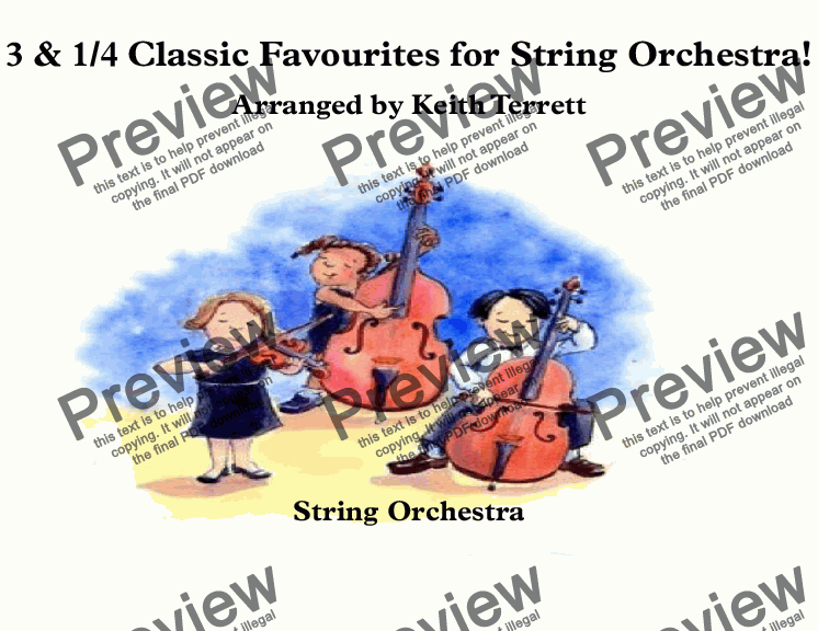 page one of 3 & 1/4 Classic Favourites for String Orchestra!