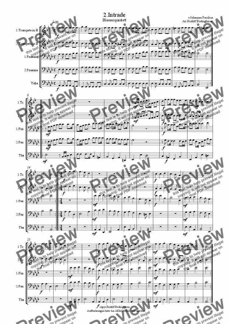 page one of 2. Intrade f. Blaeserquintett