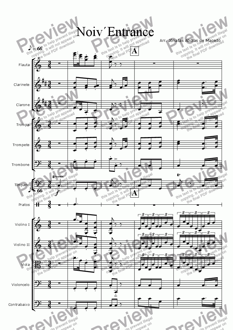 5Th Symphony noiv`entrance - from beethovens 5th symphony 2nd movement for orchestra l. v. beethoven - sheet music pdf file to download