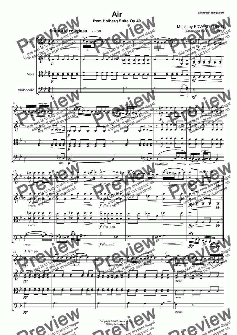 page one of Holberg Suite - Air