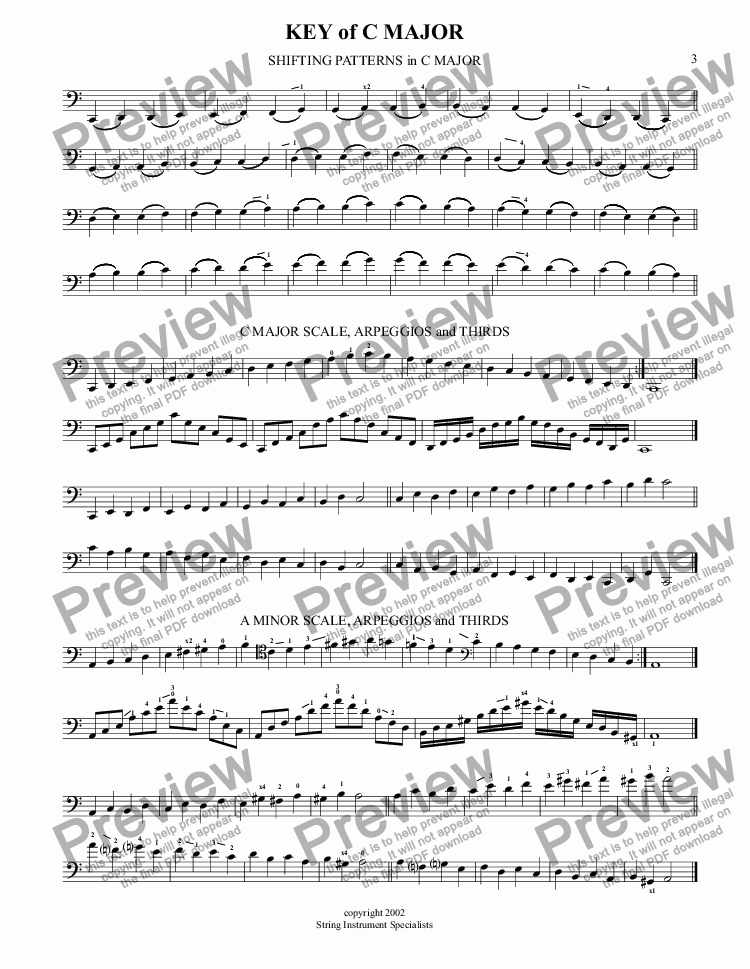 page one of SCALE STUDIES FOR VIOLONCELLO