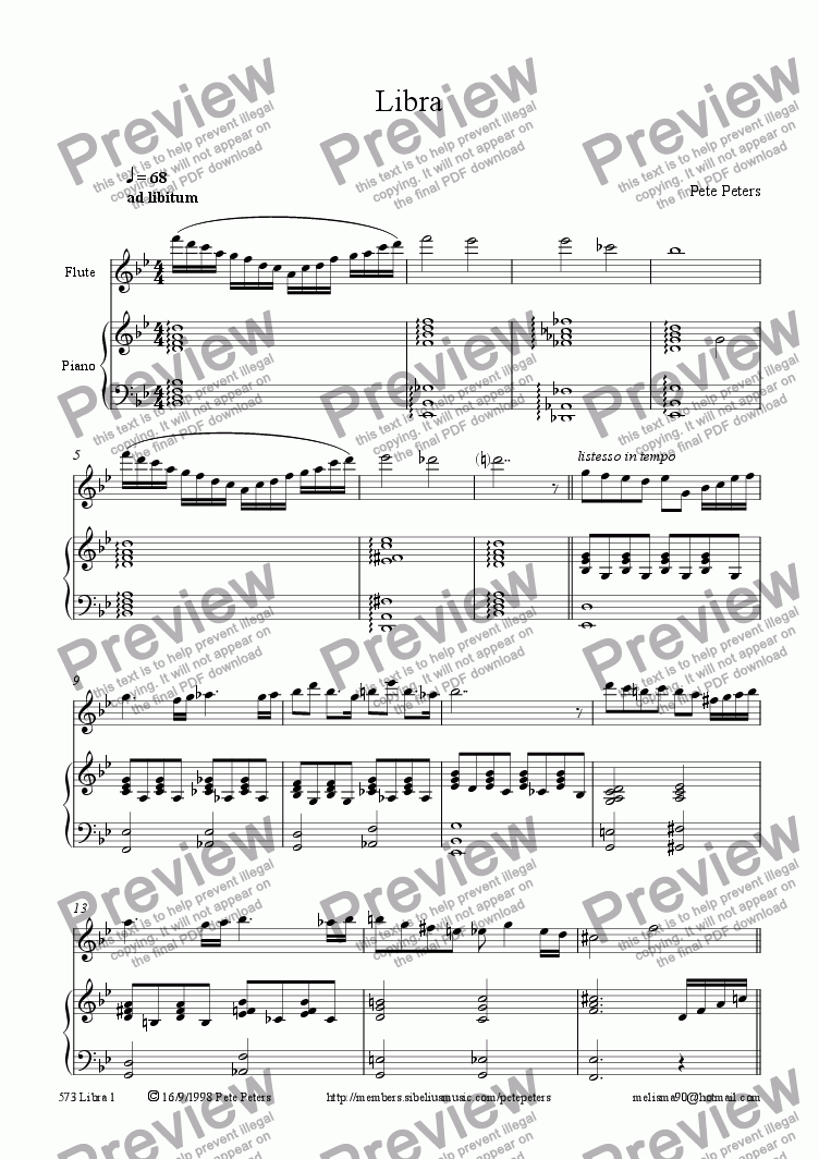 page one of Libra 2 [Flute+Pno]