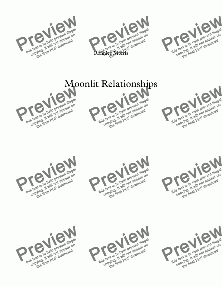 page one of Moonlit Relationships
