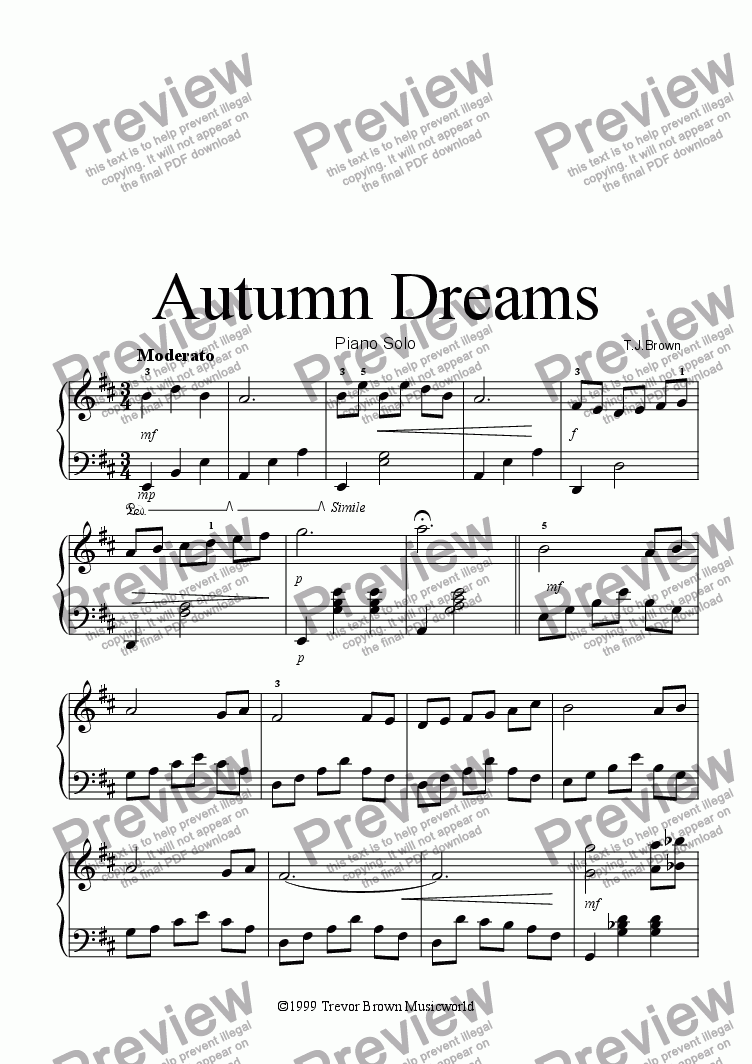 page one of Autumn Dreams