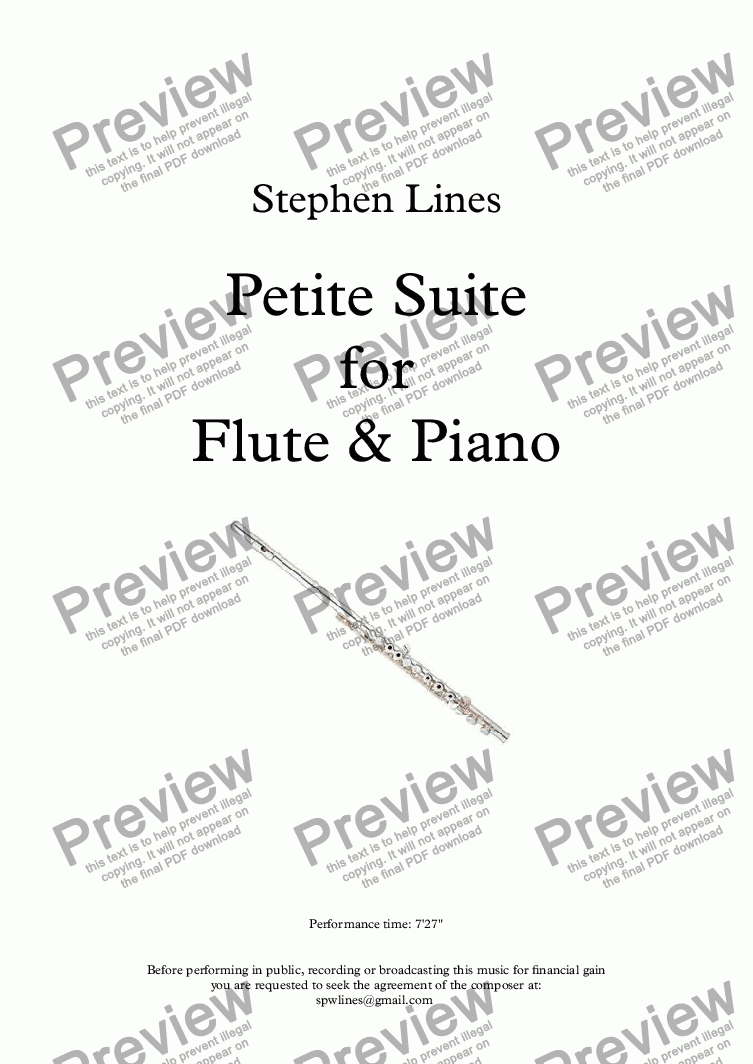 page one of Petite Suite for Flute & Piano