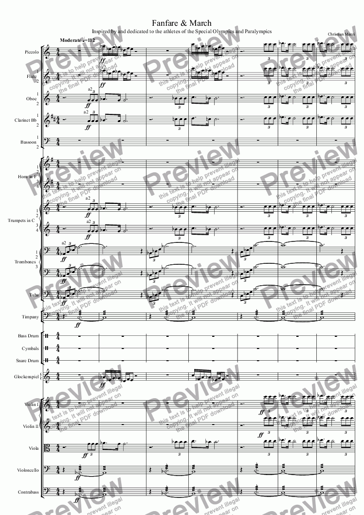 page one of Fanfare & MarchASALTTEXT
