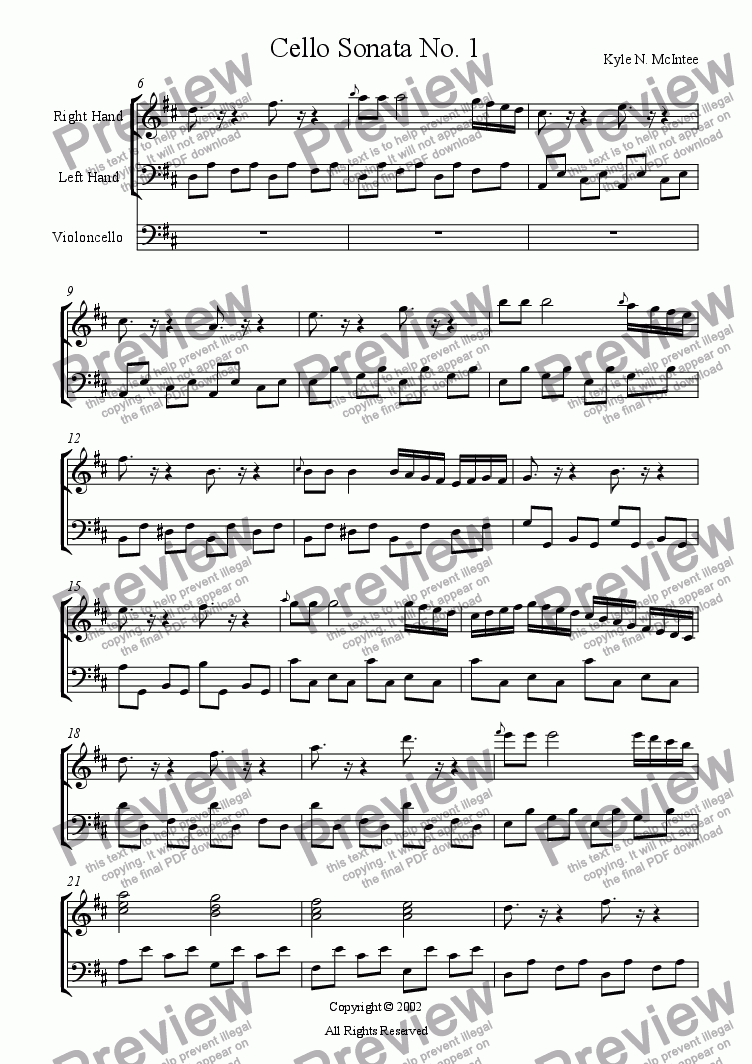 page one of Cello Sonata No.1ASALTTEXT