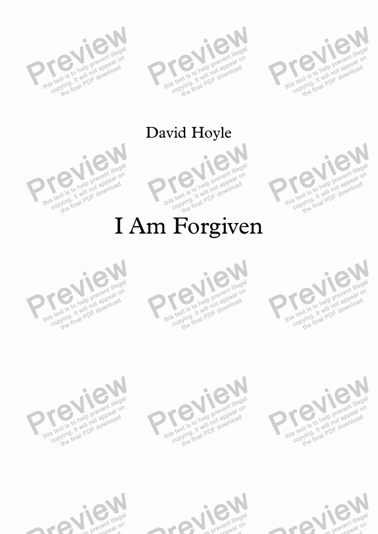 page one of I Am ForgivenASALTTEXT