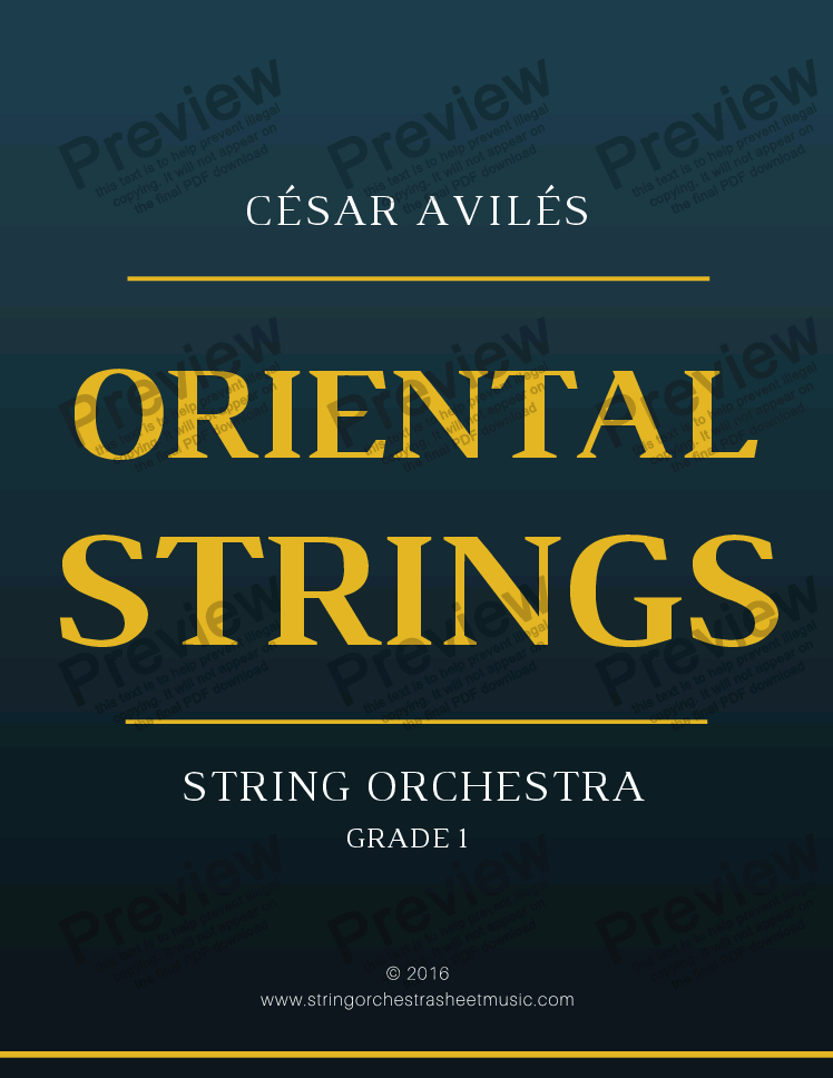 page one of Oriental Strings - String OrchestraASALTTEXT