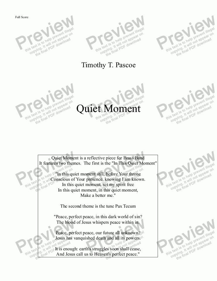 page one of Quiet Moment (Original)ASALTTEXT