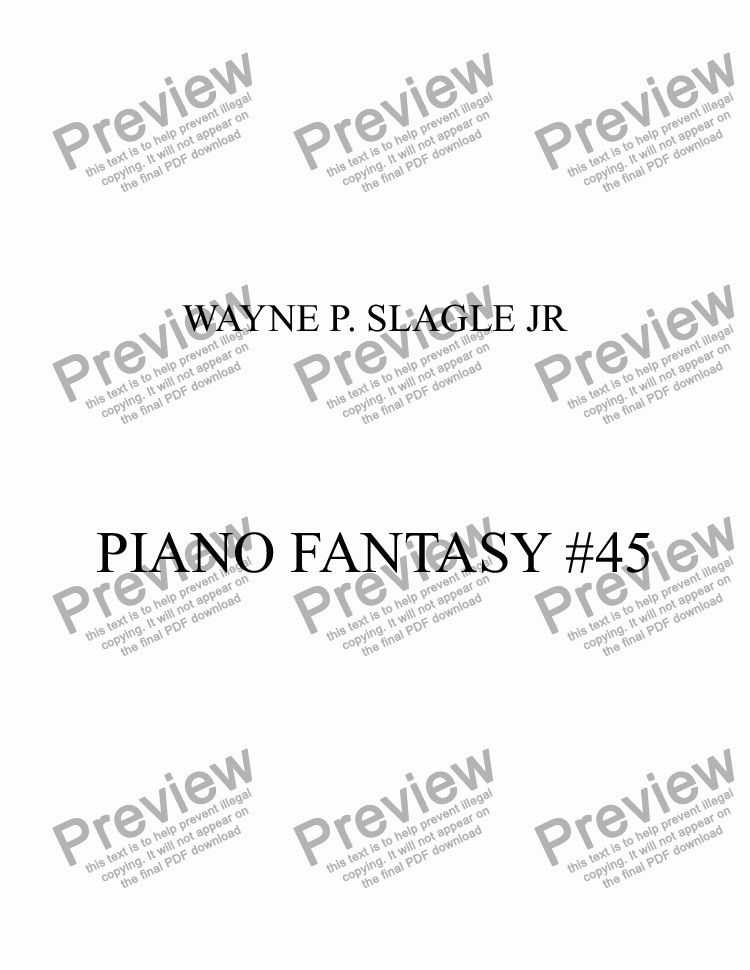 page one of PIANO FANTASY #45ASALTTEXT