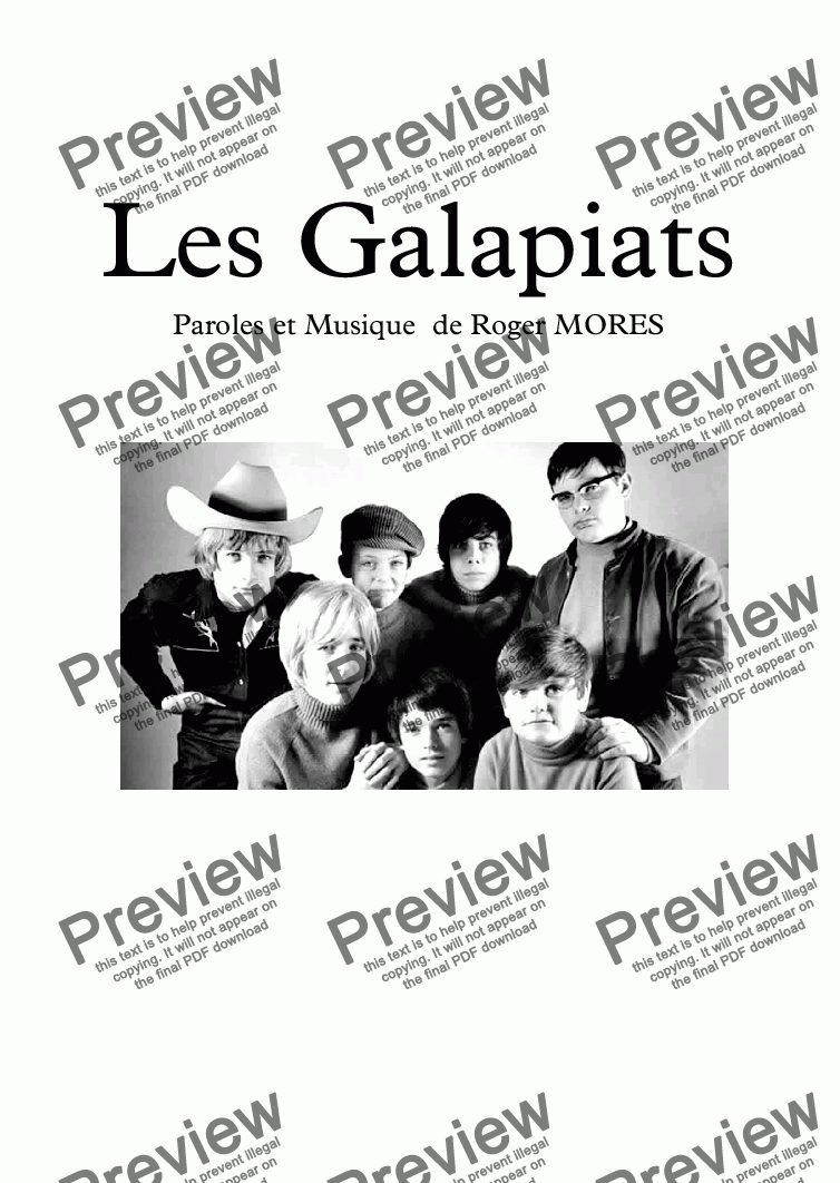 page one of Les Galapiats