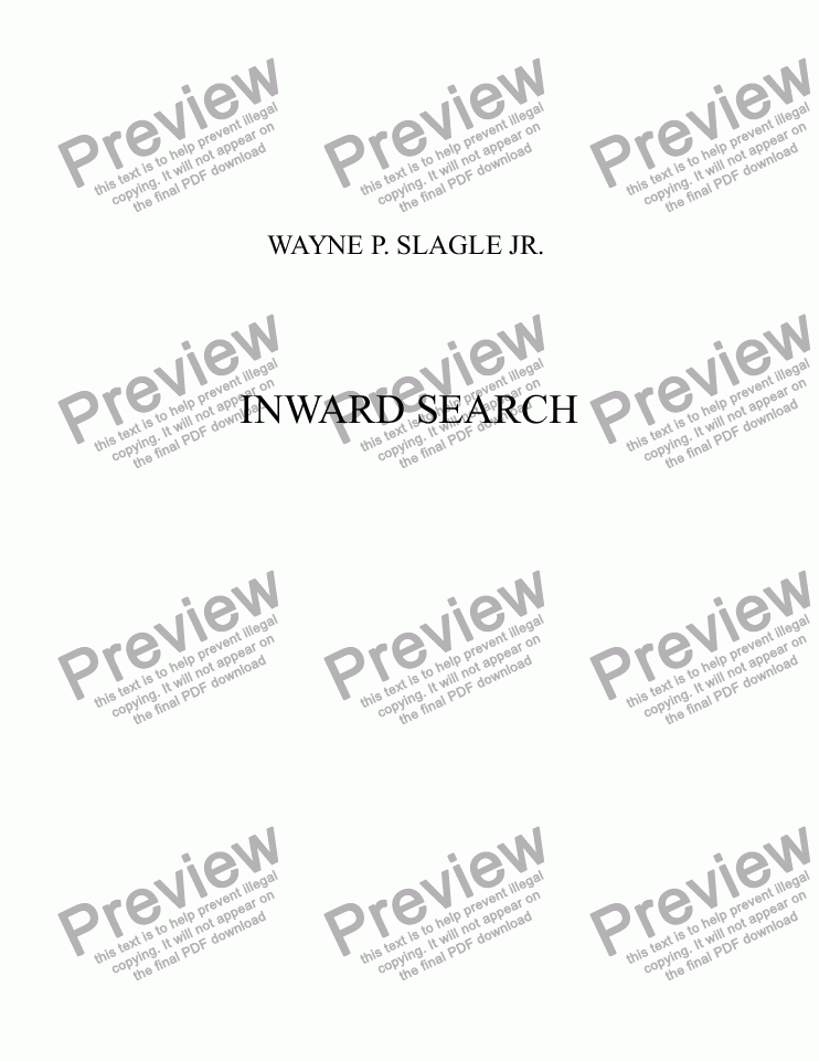 page one of INWARD SEARCH
