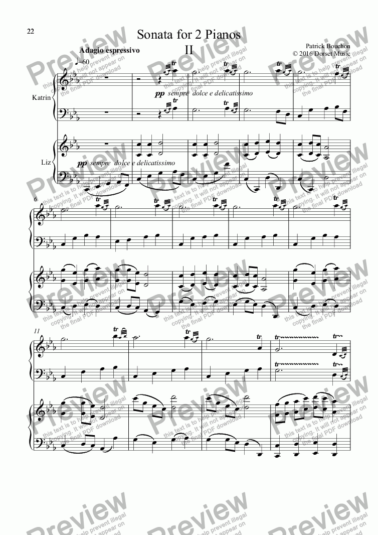 page one of Sonata for 2 Pianos IIASALTTEXT