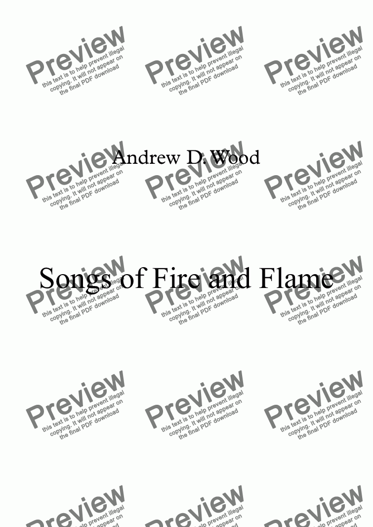 page one of Songs of Fire and FlameASALTTEXT