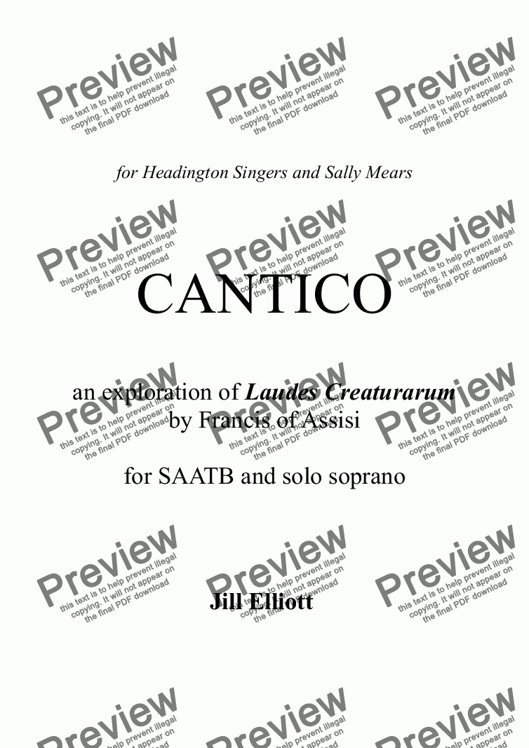 page one of CANTICO