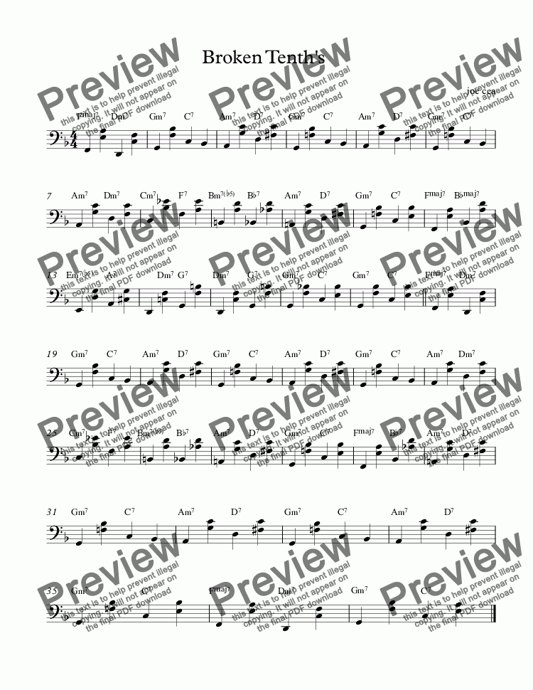 page one of oscar peterson lesson-Broken Tenth's 11https://youtu.be/V72cHvaSiMM