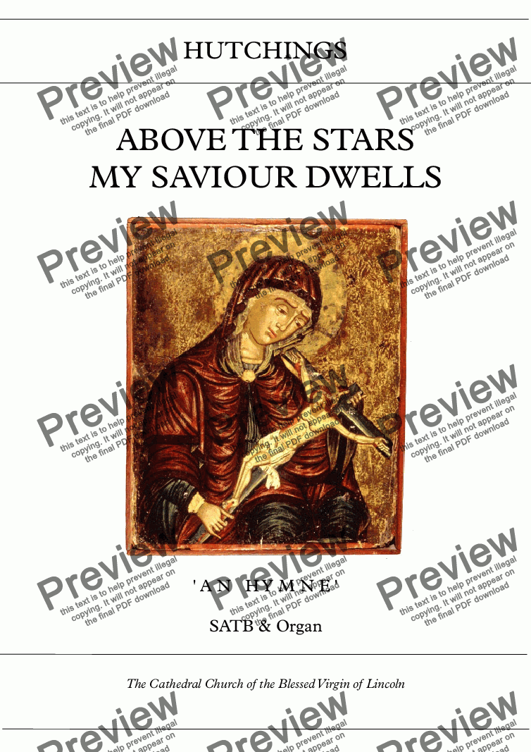 page one of Op.34 - Above the stars my saviour dwells [SATB/Org]