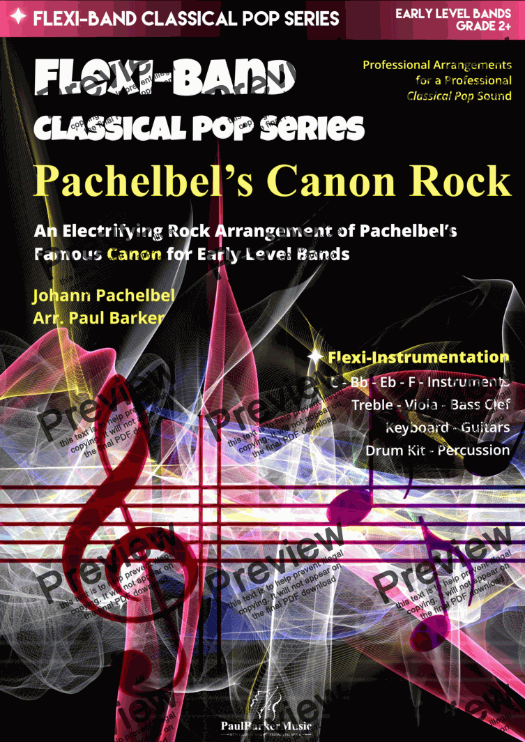 page one of Pachebel's Canon Rock (Flexi-Band)