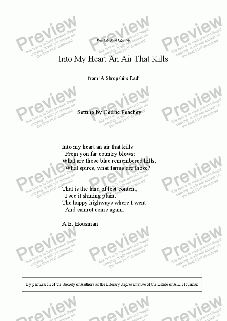 page one of Into My Heart An Air That KillsASALTTEXT