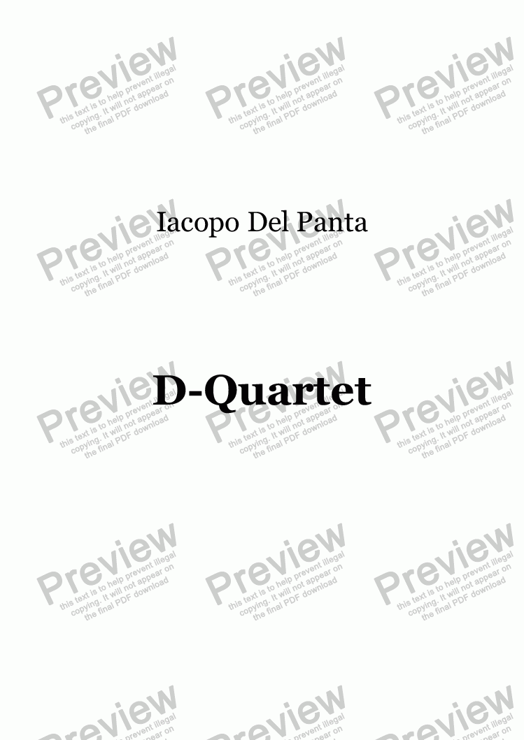 page one of D-Quartet
