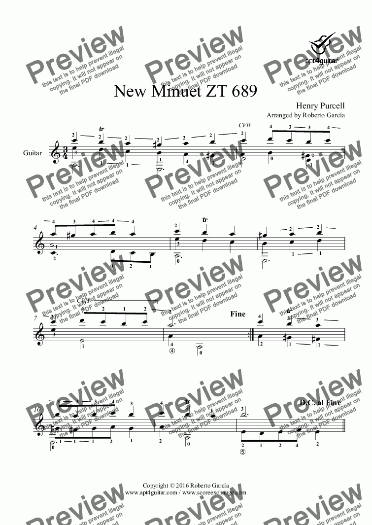 page one of New Minuet ZT 689