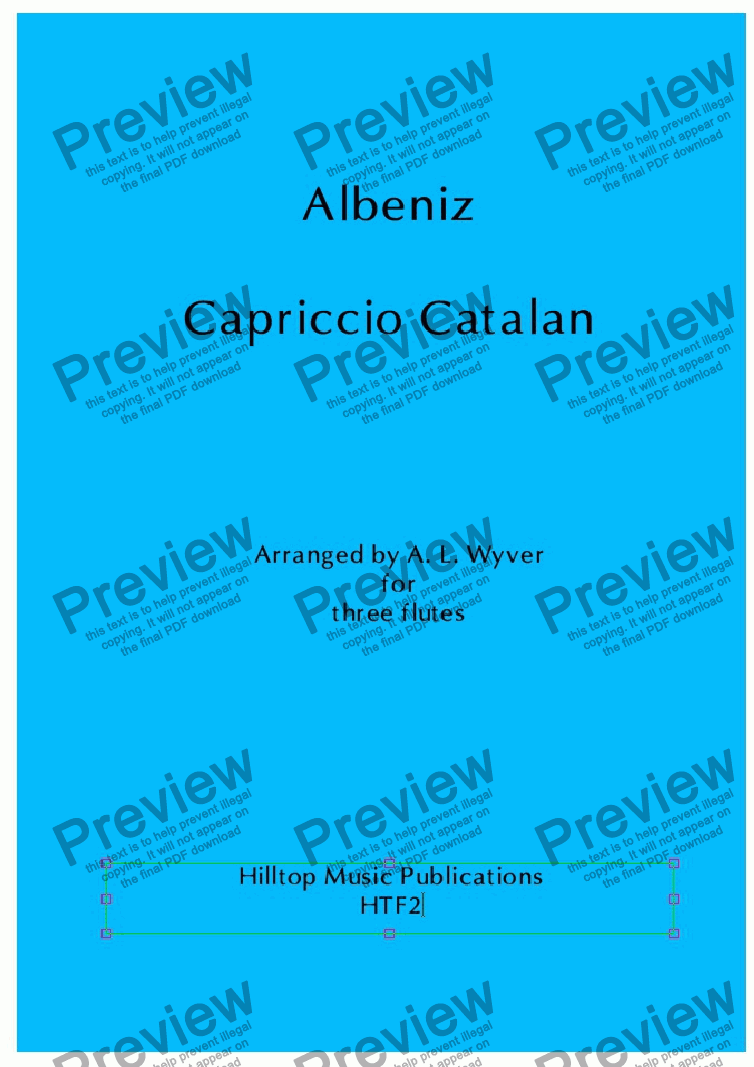 page one of Capriccio Catalan arr. three flutesASALTTEXT