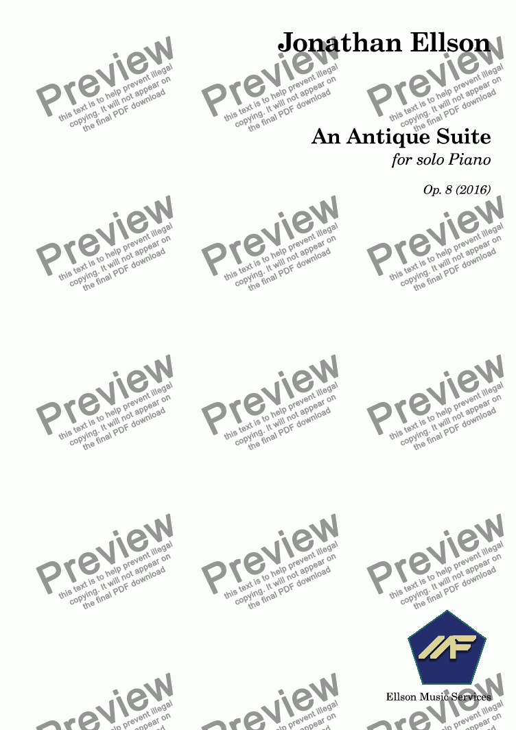 page one of An Antique Suite