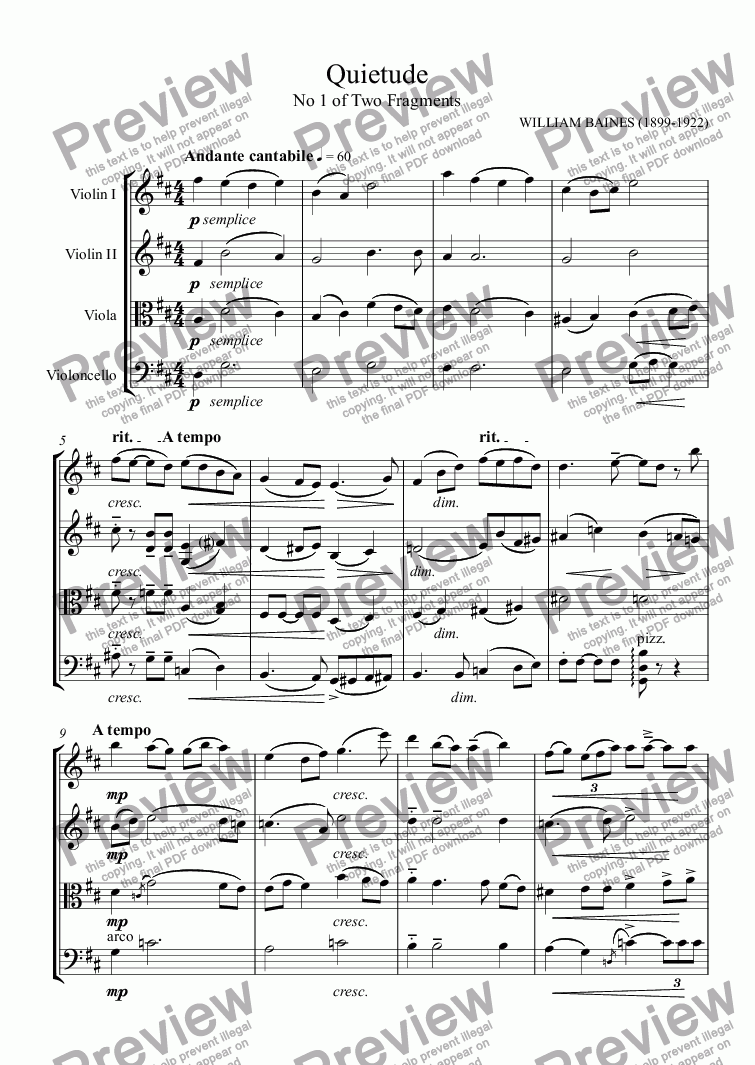 page one of William Baines: Two Fragments