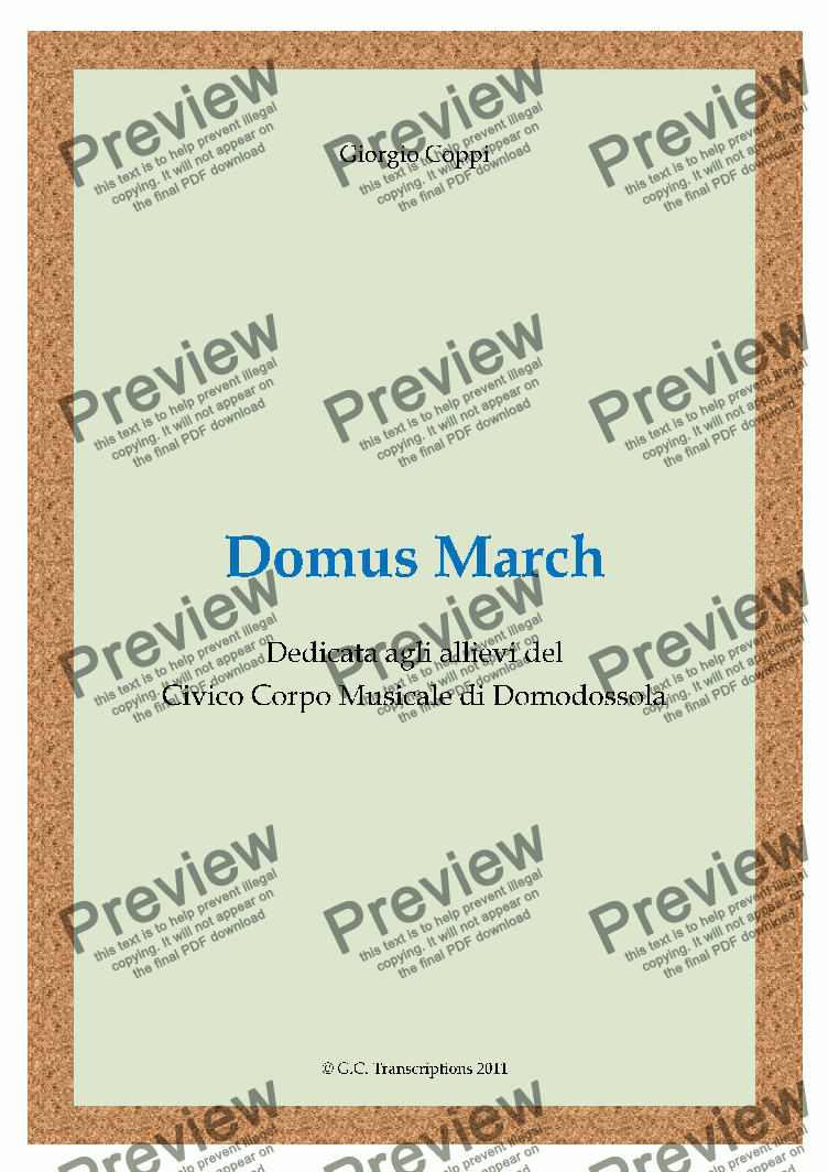 page one of Domus March