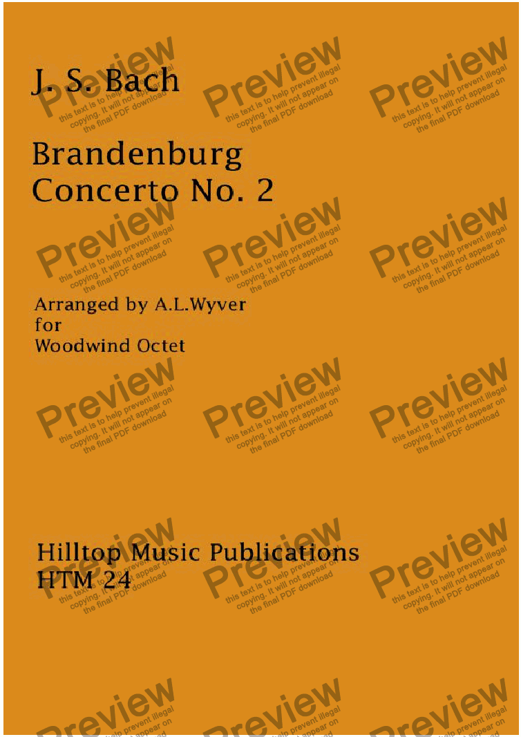 page one of Brandenberg Concerto No. 2 arr. woodwind octetASALTTEXT