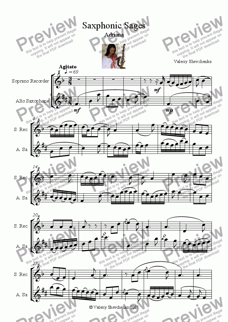 page one of Saxophonic SagesASALTTEXT