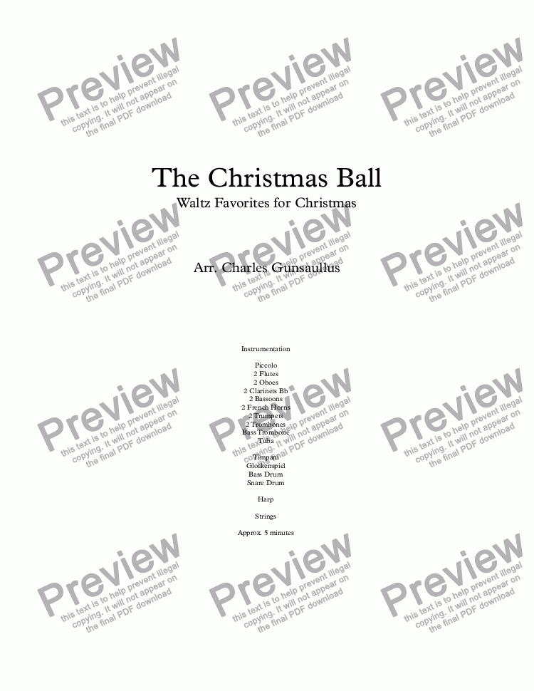 page one of The Christmas BallASALTTEXT