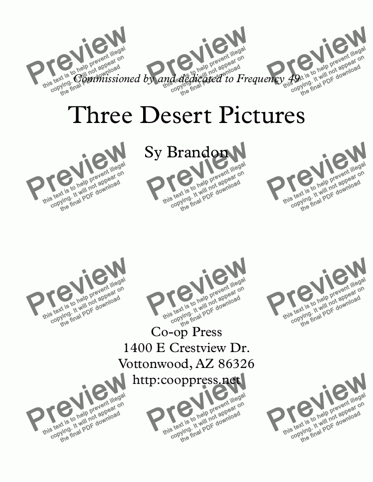 page one of Three Desert Pictures