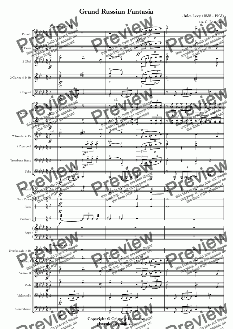 page one of Grand Russian Fantasia