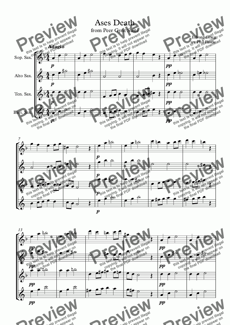 page one of Ases Death - Peer Gynt