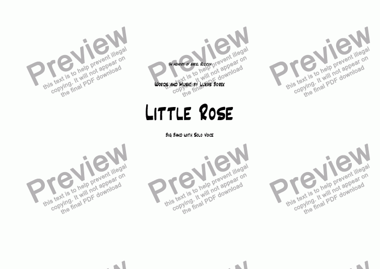 page one of Little Rose