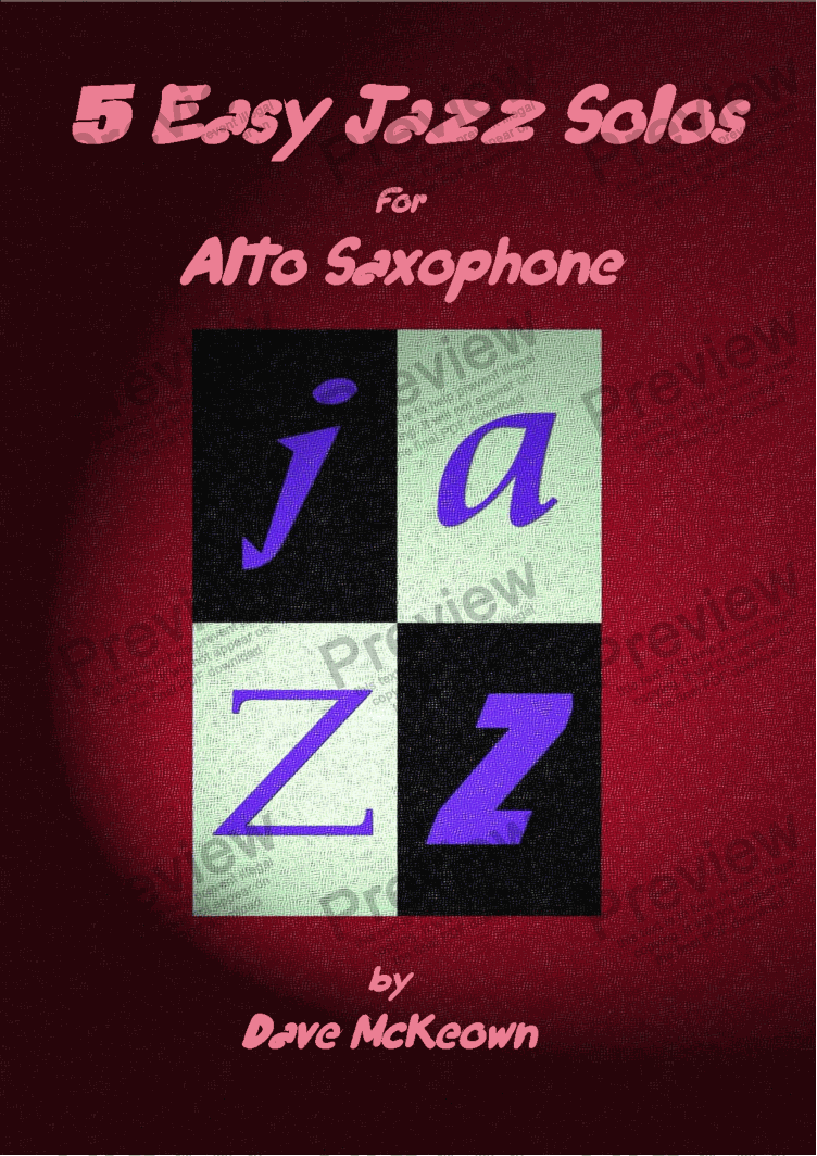 page one of 5 Easy Jazz Solos for Alto Saxophone and Piano