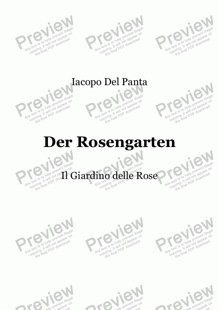 page one of Der Rosengarten