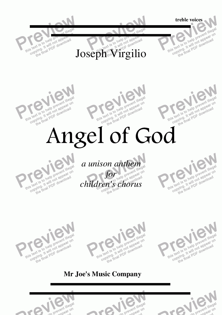 page one of Angel Of God (Angele Dei)ASALTTEXT