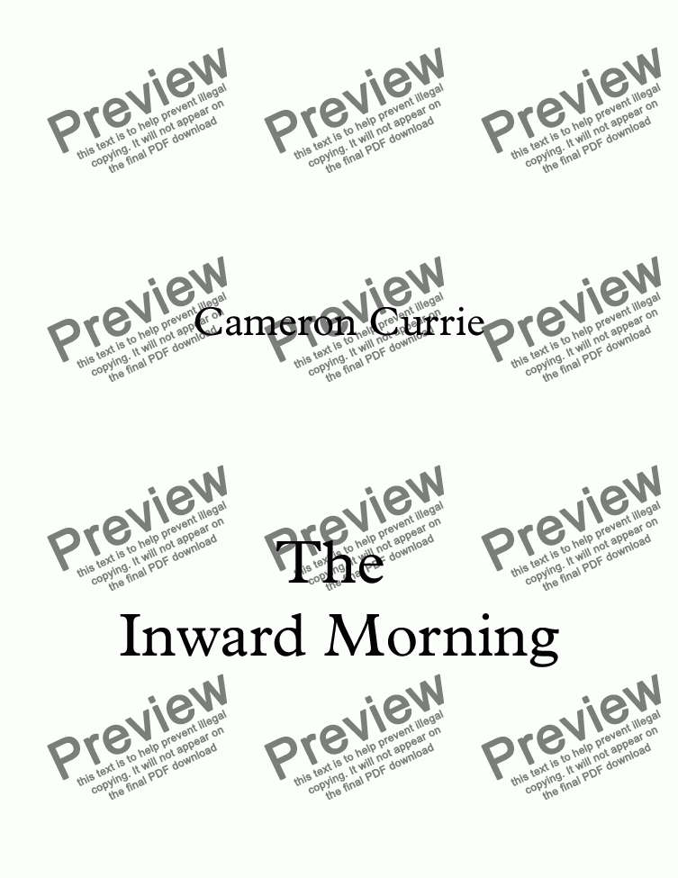 page one of The Inward Morning