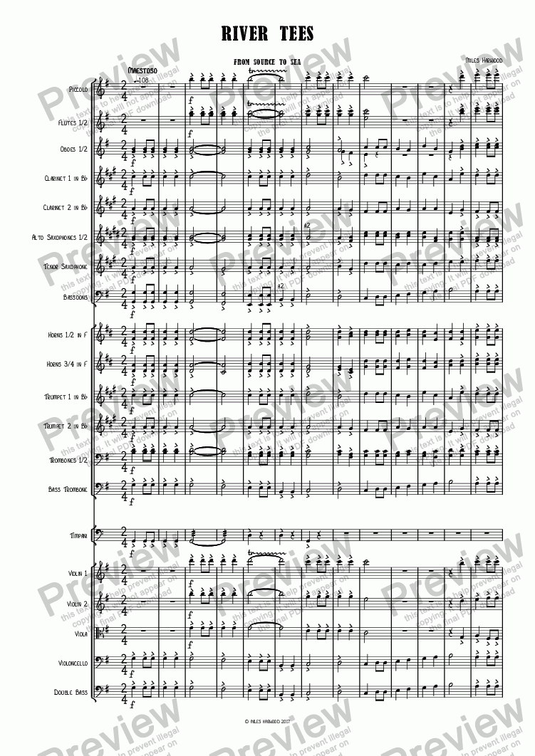 page one of River Tees Op. 12